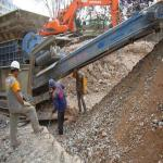 Britagem de resíduos da construção civil